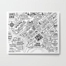 Cleveland Map Metal Print