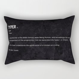 Typer Rectangular Pillow