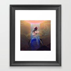 Fissure Framed Art Print