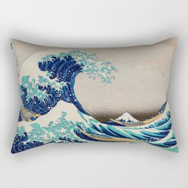 Massive Waves Japanese Art Rectangular Pillow