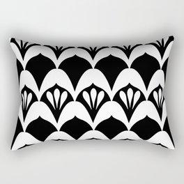 Art Deco Fans Black & White Rectangular Pillow