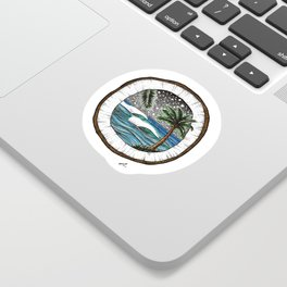 Coconut Vibes Sticker