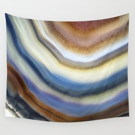 Colorful layered agate 2075 Wall Tapestry