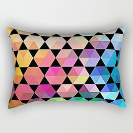 Bold Hexagon Rectangular Pillow