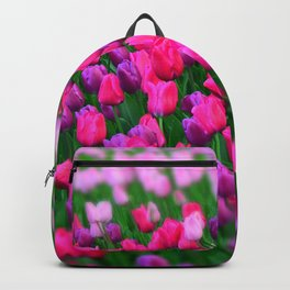 Tulips flowers Backpack