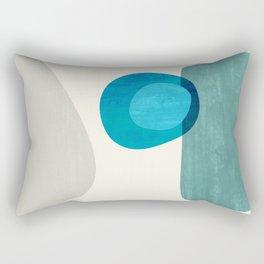 Stacking Pebbles Blue Rectangular Pillow