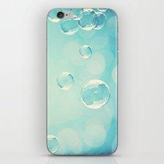 Bubble Photography, Laundry Room Soap Bubbles, Aqua Teal Bathroom Photography iPhone & iPod Skin