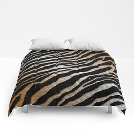 Ripped SpaceTime Stripes - Bronze/White Comforters