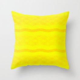 September Curves (Citrus) Throw Pillow