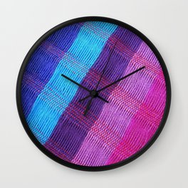 Mexican colors 2 Wall Clock