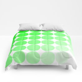 Green Circle Color Chart Comforters