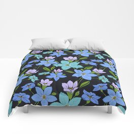 Forget -Me-Not flowers pattern Comforters