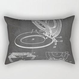 Toilet Seat Patent - Bathroom Art - Black Chalkboard Rectangular Pillow