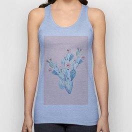 Rose Desert Cactus on Pink by Nature Magick Unisex Tank Top