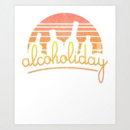 Alcoholiday Art Print