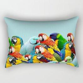 Sky blue parrots home decor Rectangular Pillow