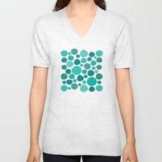 Green Dots Unisex V-Neck