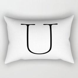 Letter U Typewriting Rectangular Pillow