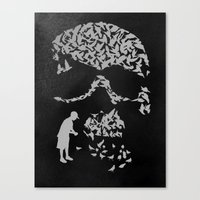 Pigeonholed Canvas Print