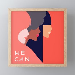Together, we can  #girlpower Framed Mini Art Print