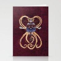 "sailormoon Stationery Cards featuring Steampunk Sailormoon by Barbora ""Mad Alice"" Urbankova"