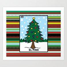 Christmas Loteria El Pino Art Print