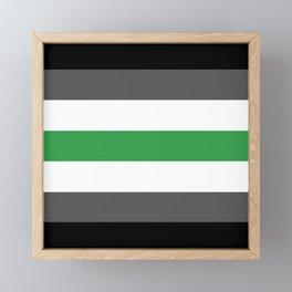 Agender Flag Framed Mini Art Print