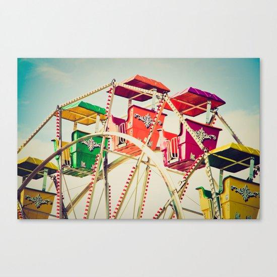 Colorful Ferris Wheel Cars Canvas Print
