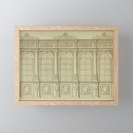 Classical Library Architecture Framed Mini Art Print