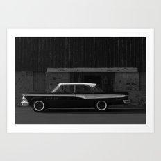 Edsel at the door Art Print