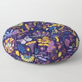Ripe autumn – purple and yellow Floor Pillow