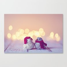 Happy Holidays, Christmas and Winter Photography Canvas Print