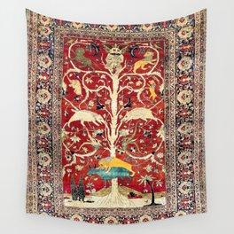 Silk Heriz Azerbaijan Northwest Persian Rug Print Wall Tapestry