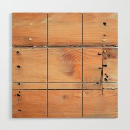 Wooden ship board with nails and screws Wood Wall Art