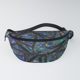 Blue abstract lights Fanny Pack