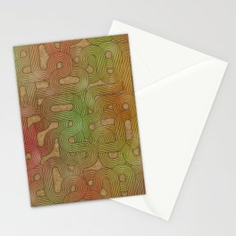 retro swirls Stationery Cards