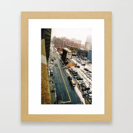 Winter time in the D Framed Art Print