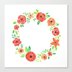 Spring flower wreath Canvas Print