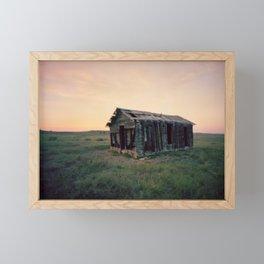 Abandoned Homestead at Sunset Framed Mini Art Print