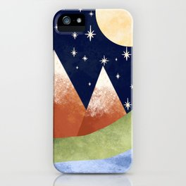 Full Moon In The Mountains iPhone Case