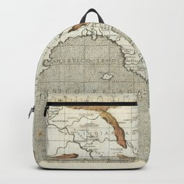 Vintage Map Print - 1482 Ptolemaic Map of the Ganges Delta Backpack