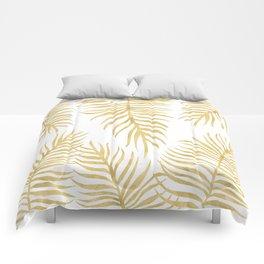 Fern Pattern Gold Comforters