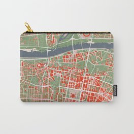 Warsaw city map classic Carry-All Pouch