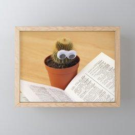 Cactus Eyes Book Framed Mini Art Print
