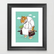 Kitchen Shopping Framed Art Print