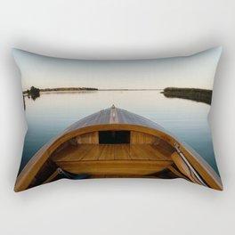 Summer Mornings On The Lake Rectangular Pillow