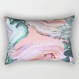 Mineral Agates & Garden #Glam collection Rectangular Pillow
