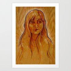 The Amber Queen Art Print