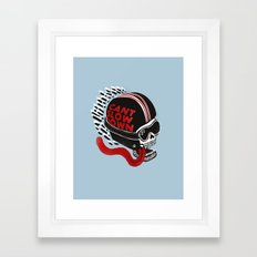 Can't Slow Down Framed Art Print