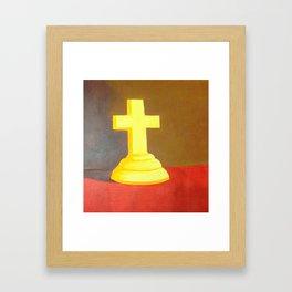 Cross Covered in His Light Framed Art Print